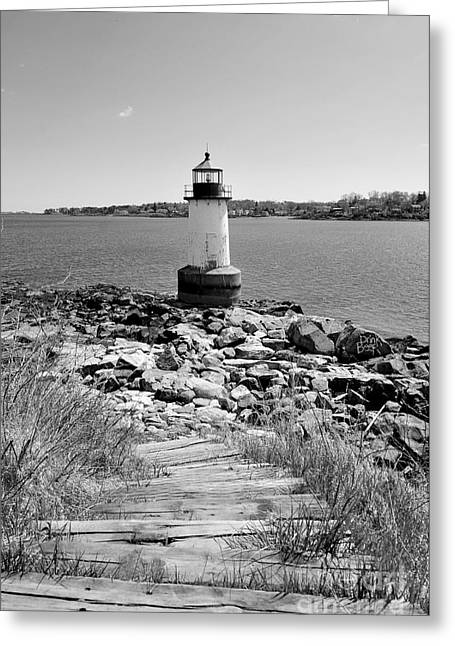 Fort Pickering Light Greeting Card by Catherine Reusch Daley