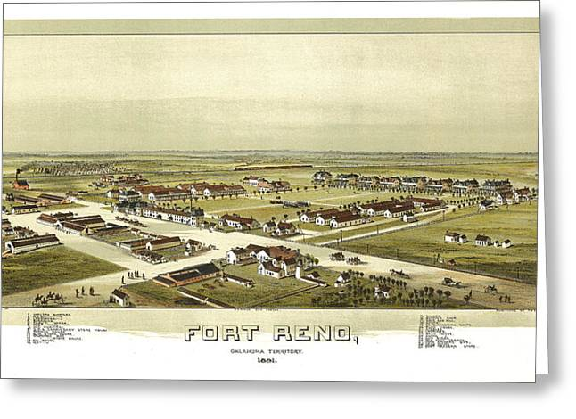 Fort Reno Oklahoma Territory 1891 Greeting Card by Donna Leach