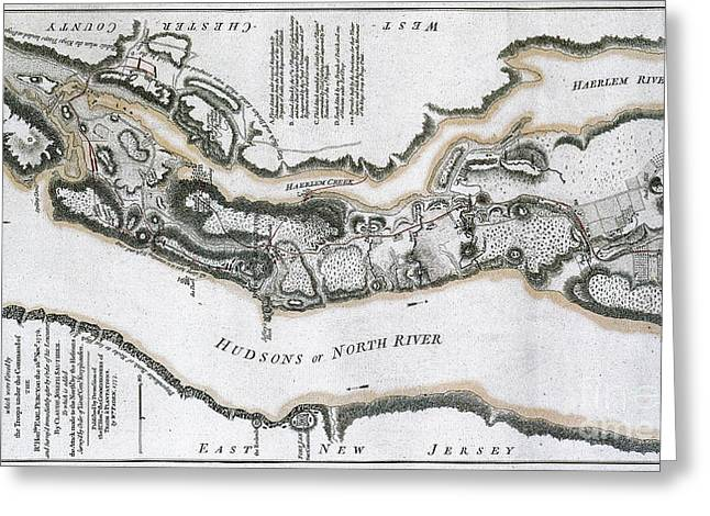 Fort Washington Attacks, 1776 Greeting Card by Photo Researchers