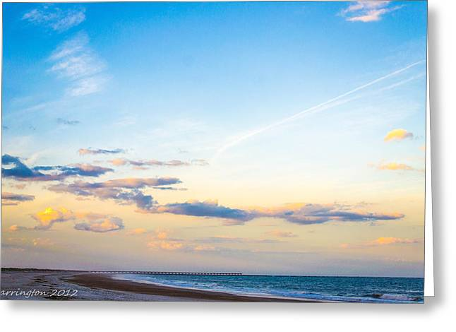 Greeting Card featuring the photograph Forte Clinch Pier by Shannon Harrington