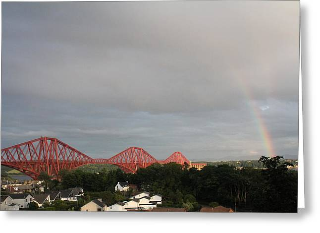 Forth Bridge Greeting Card by David Grant