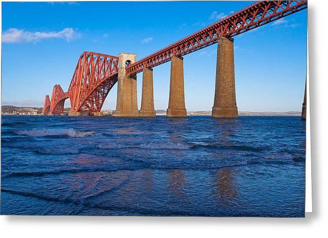 Forth Rail Bridge Greeting Card by Gary Finnigan