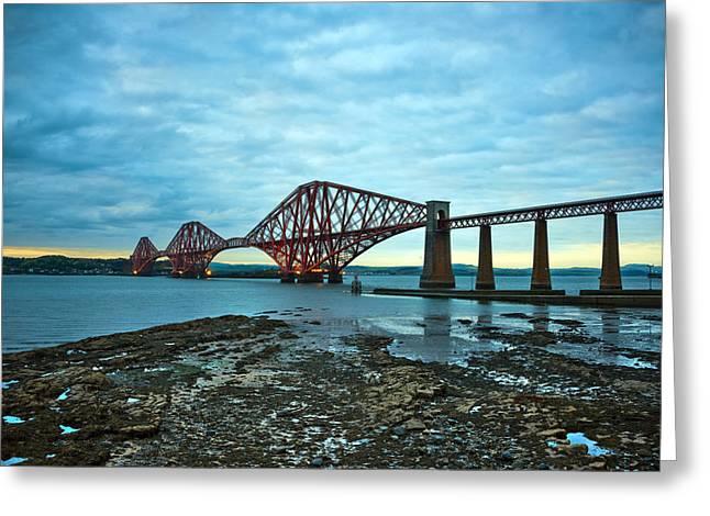 Forth Rail Bridge Greeting Card by Svetlana Sewell