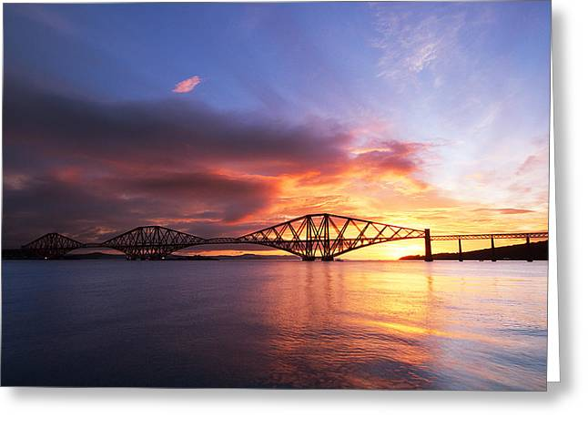 Forth Sunrise Greeting Card by Keith Thorburn LRPS AFIAP CPAGB
