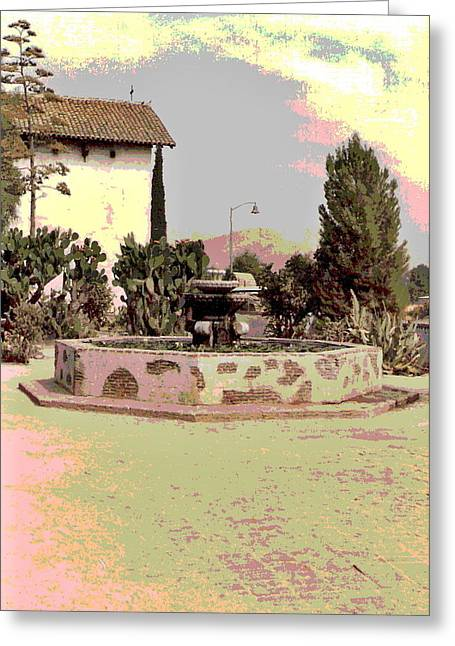 Fountain At Mission San Miguel Greeting Card