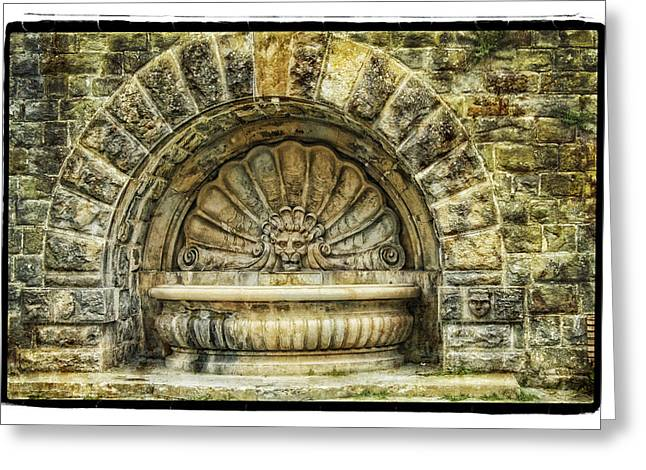 Fountain Greeting Card by Mauro Celotti