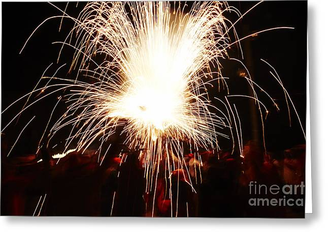 Fountain Of Sparks Greeting Card by Agusti Pardo Rossello