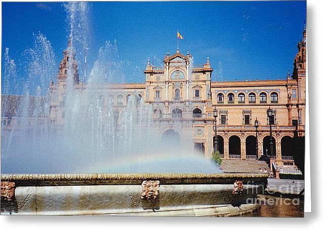 Fountain Rainbow Greeting Card