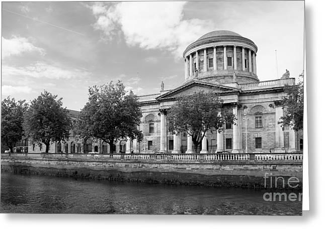 Four Courts In Dublin Greeting Card by Gabriela Insuratelu