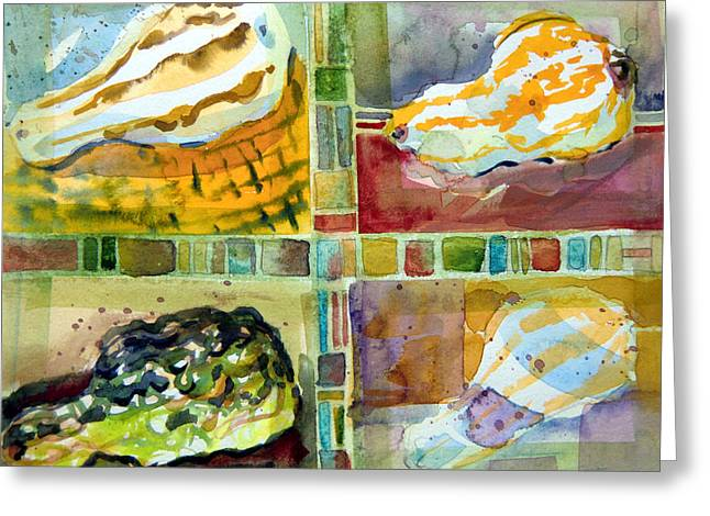 Four Gourds Greeting Card by Mindy Newman