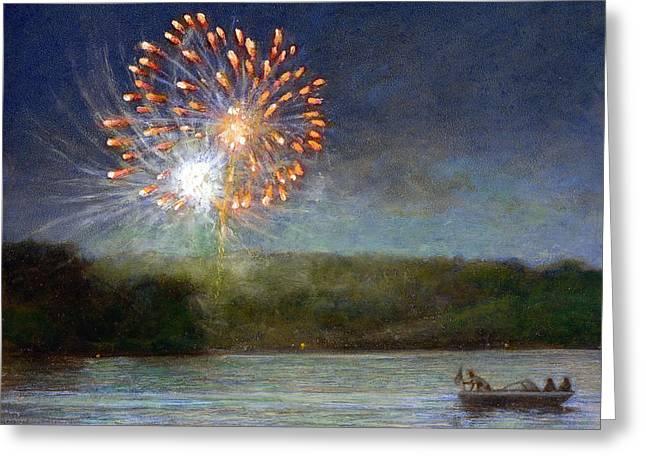 Cazenovia Greeting Cards - Fourth of July- Cazenovia Lake Greeting Card by Wayne Daniels