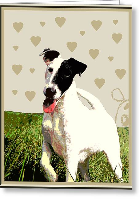 Fox Terrier Smooth Greeting Card by One Rude Dawg Orcutt