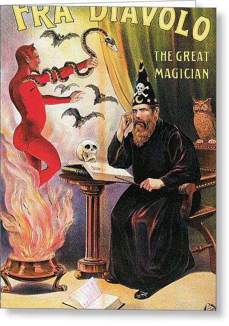 Fra Diavolo The Great Magician Greeting Card by Unknown