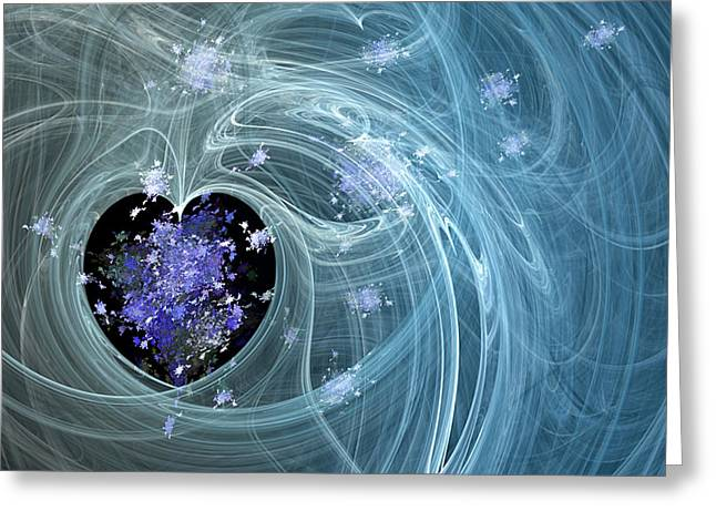 Fractal003 Greeting Card by Svetlana Sewell