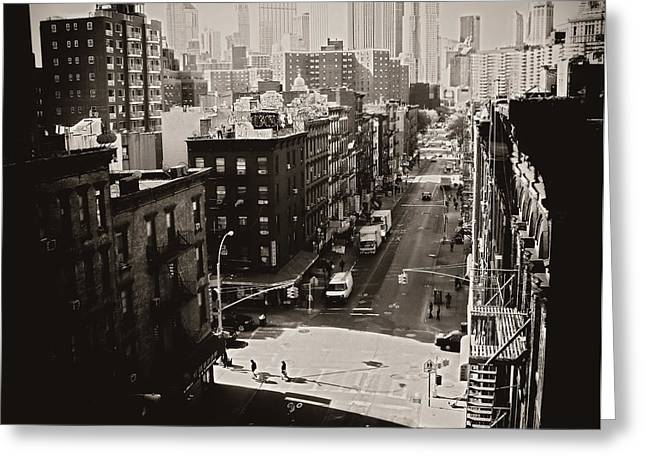 Fragments Of History - Above A New York City Street Greeting Card