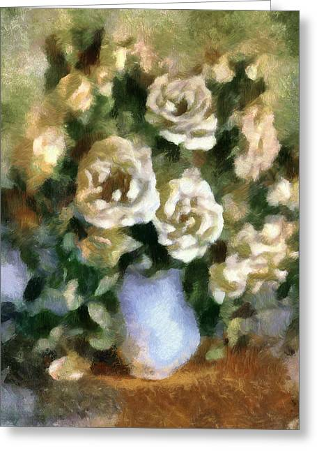 Fragrant Roses Greeting Card by Georgiana Romanovna