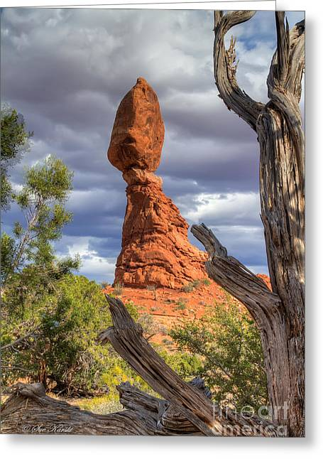 Framed Balance Rock Greeting Card