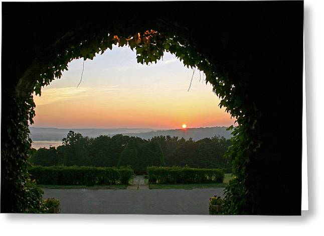 Framed Sunrise Greeting Card