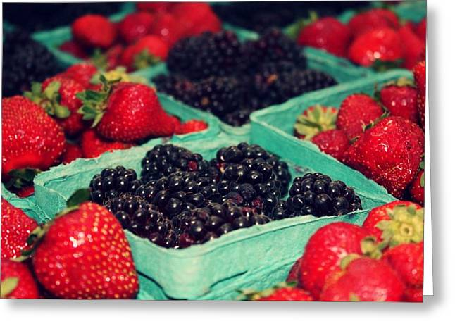 Framers Market Berries Greeting Card by Cathie Tyler