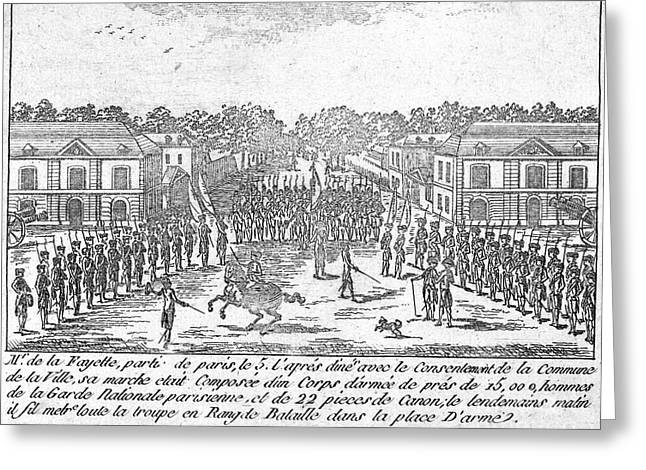 France: National Guard Greeting Card by Granger