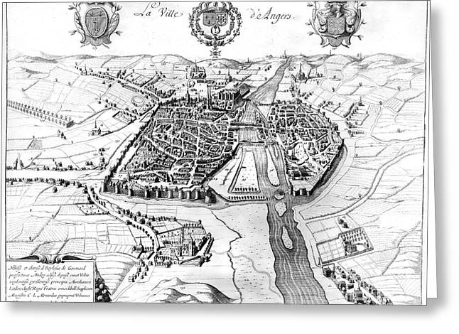 France: Walled City, 1688 Greeting Card by Granger