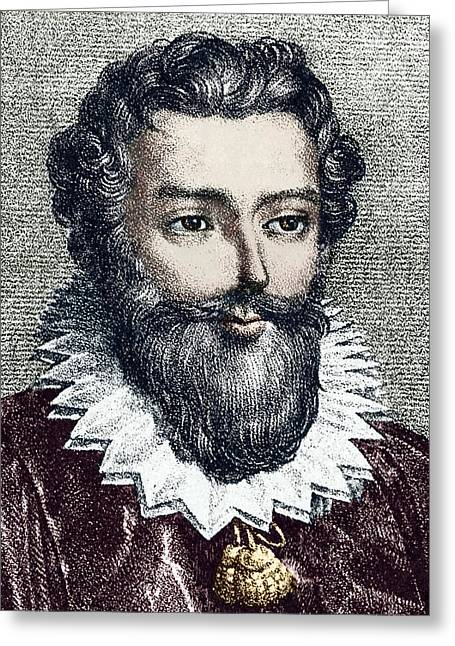 Francois Viete, French Mathematician Greeting Card by Sheila Terry