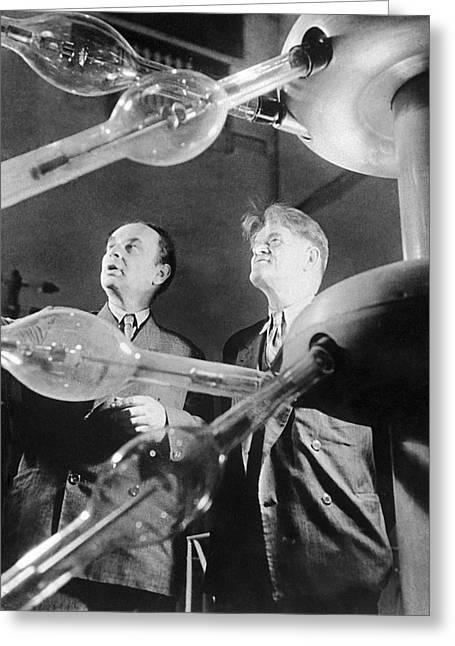 Frank And Cherenkov, Soviet Physicists Greeting Card by Ria Novosti