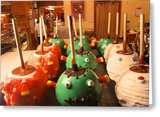 Frankenstein Candy Apples Greeting Card