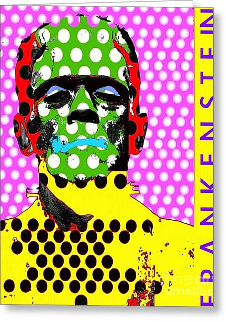 Frankenstein Greeting Card by Ricky Sencion