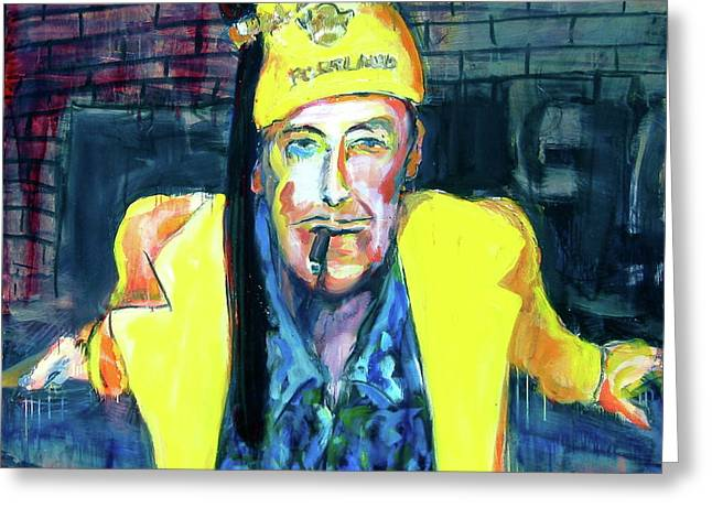 Greeting Card featuring the painting Frankie Delboo  by Les Leffingwell