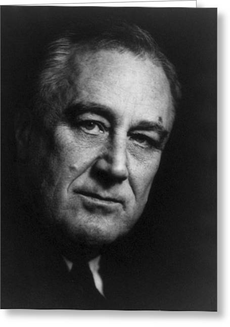Franklin Delano Roosevelt  - President Of The United States Of America Greeting Card by International  Images