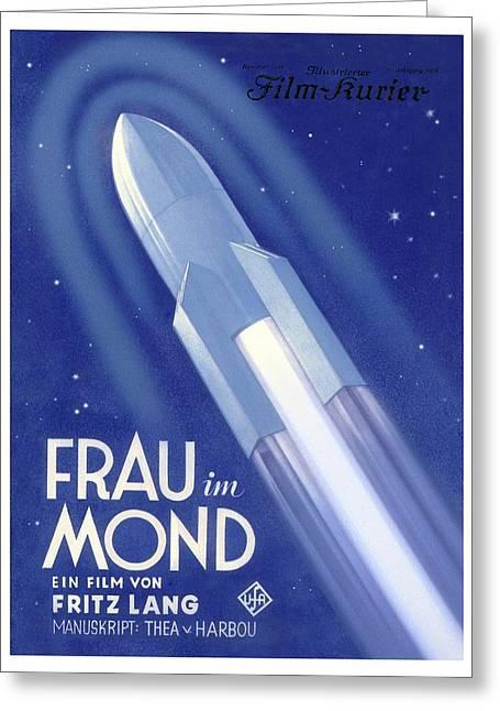 Frau Im Mond Advert, 1929 Greeting Card by Detlev Van Ravenswaay