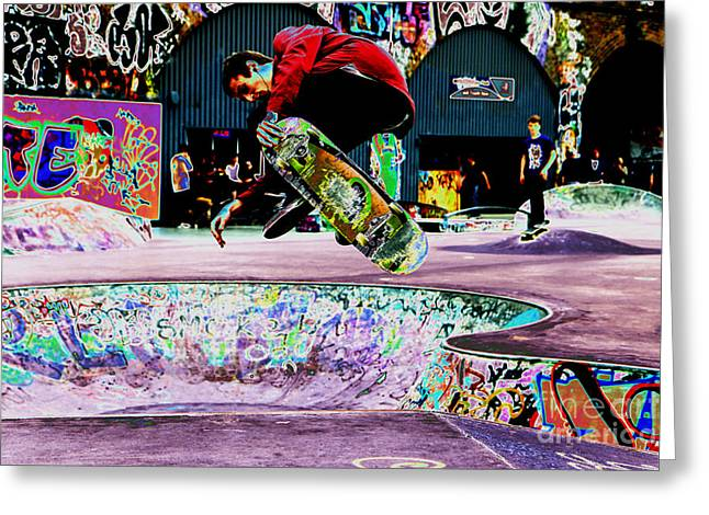 Freaky Styley Greeting Card by Urban Shooters