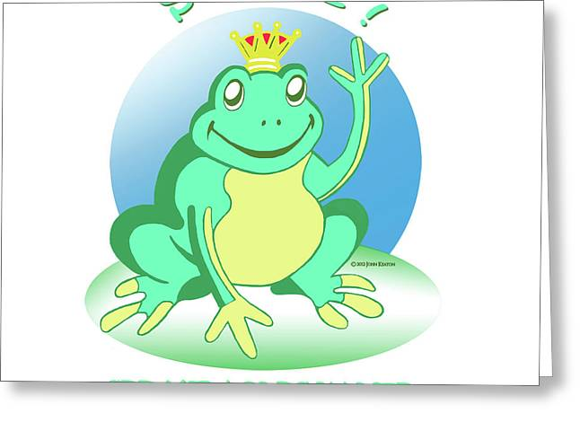 Fred The Frog Greeting Card by John Keaton