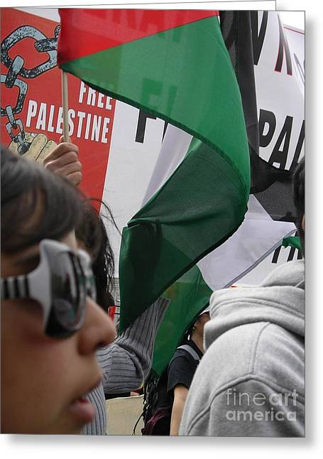 Greeting Card featuring the photograph Free Palestine by Cynthia Marcopulos