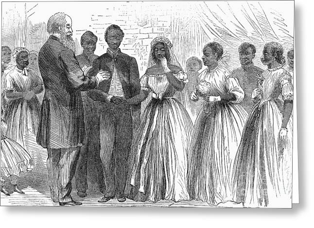 Freedmen: Wedding, 1866 Greeting Card by Granger