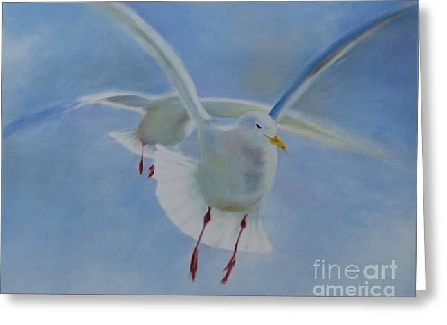 Greeting Card featuring the painting Freedom by Annemeet Hasidi- van der Leij