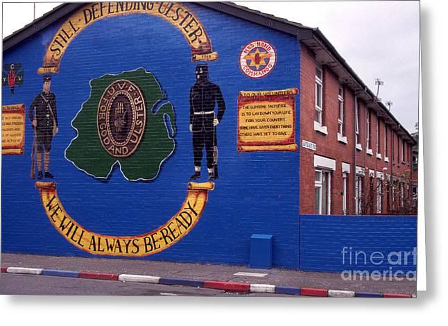 Freedom Corner Mural Belfast Northern Ireland Greeting Card