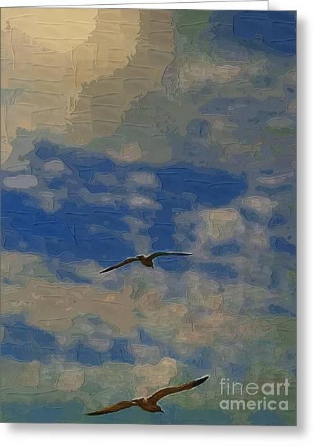 Freedom Flying Greeting Card by Deborah MacQuarrie-Selib