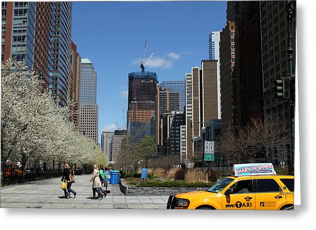 Freedom Tower 3 Greeting Card by Andrew Fare