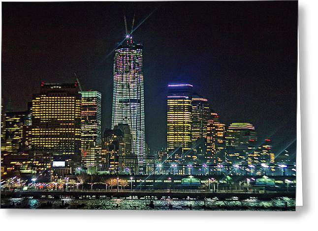 Freedom Tower Half Way Build Greeting Card by Alex AG