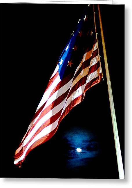 Flag On Federal Hill Greeting Card