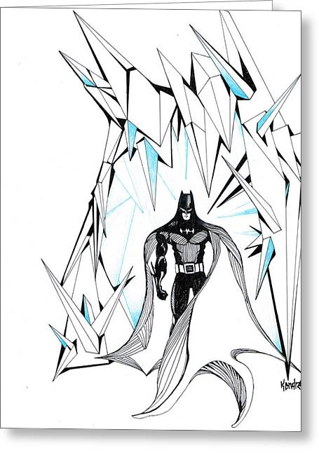 Freeze Greeting Card by Kendrew Black