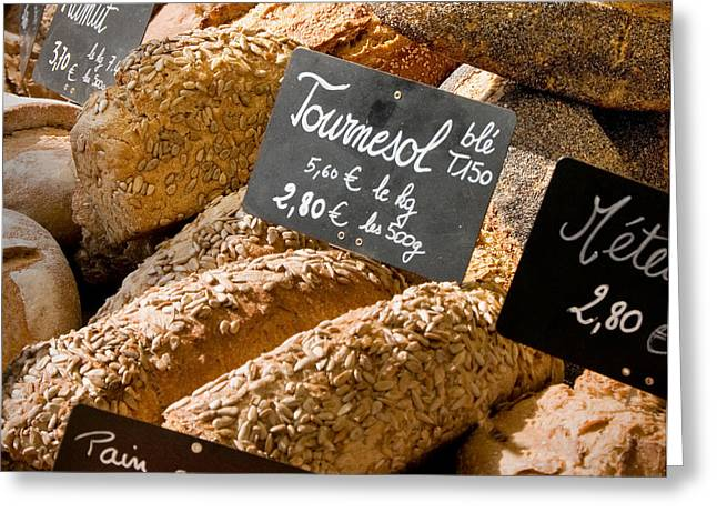 French Bread Of Provence Greeting Card by Kent Sorensen