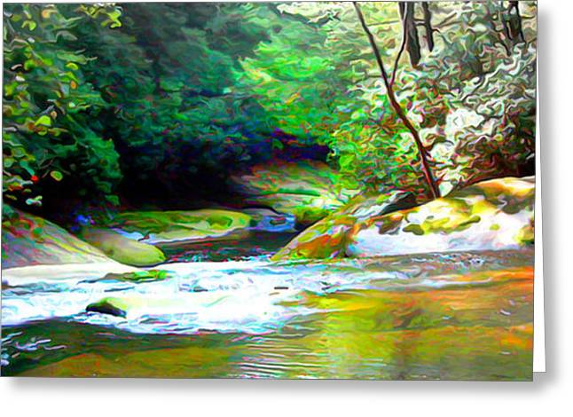 French Broad River Filtered Greeting Card