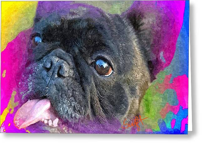 French Bulldog Greeting Card by Char Swift