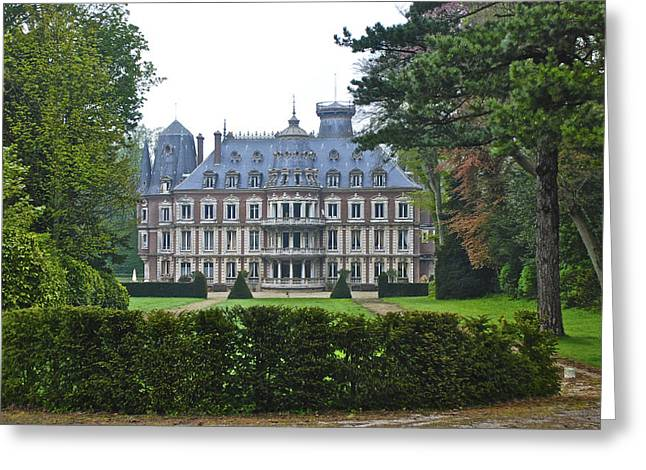 French Country Mansion Greeting Card
