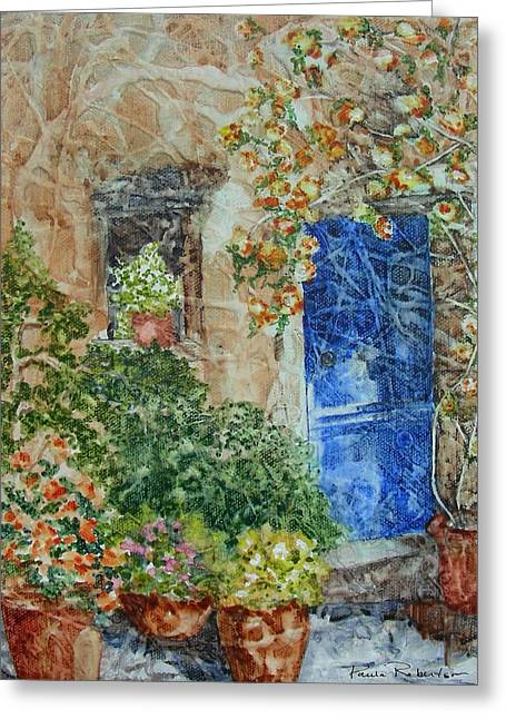 French Doorway Greeting Card