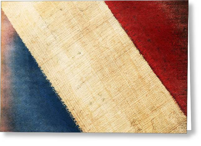 French Flag Greeting Card by Setsiri Silapasuwanchai