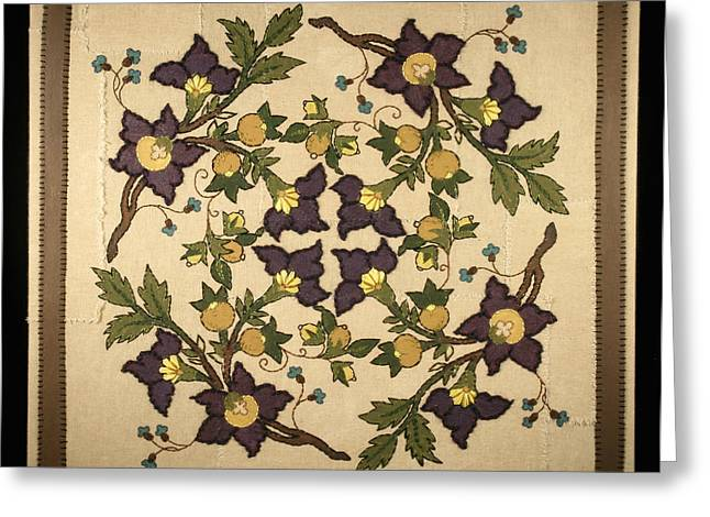 French Floral Tapestry Greeting Card